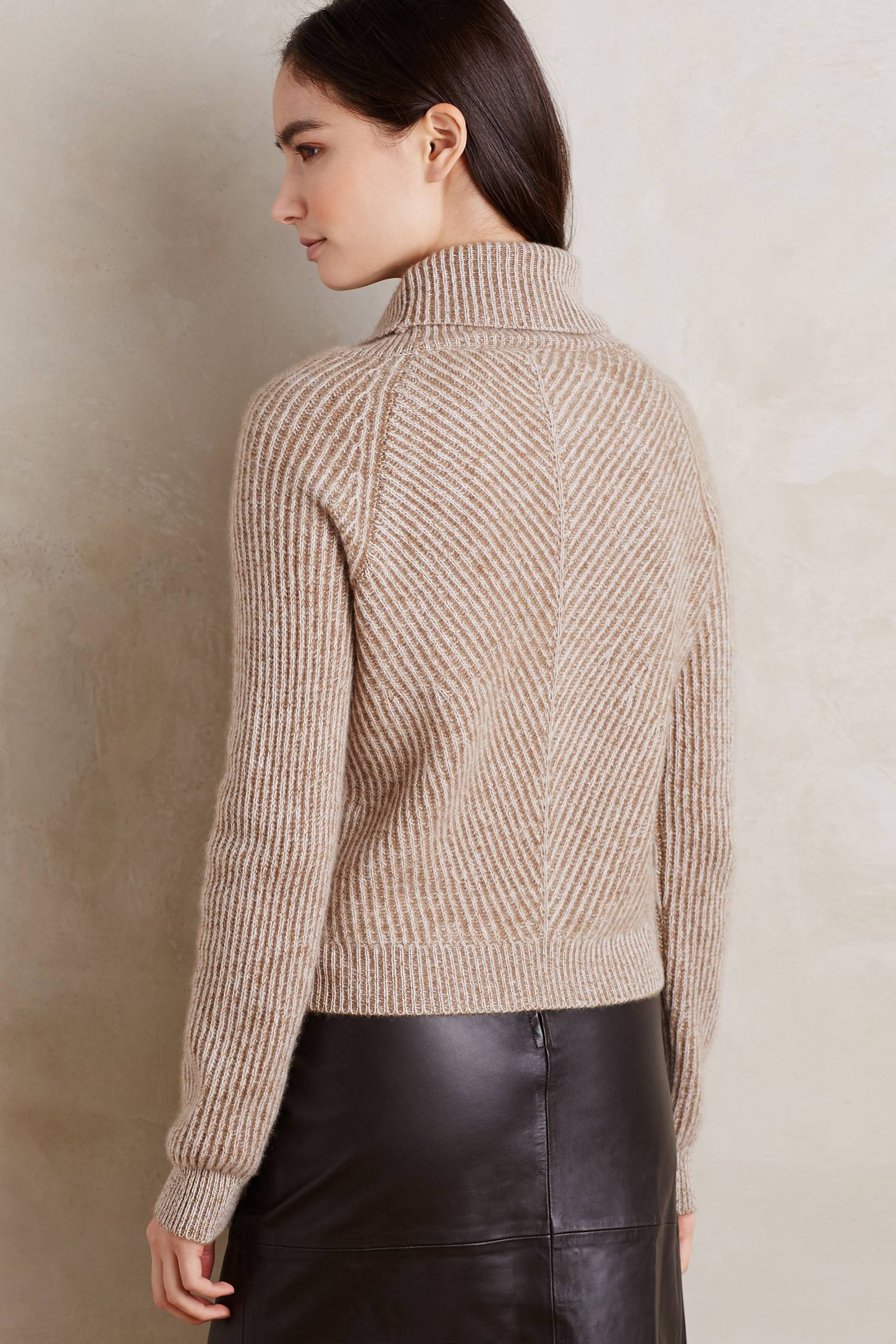 Tied Cashmere Turtleneck