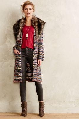 Shawled Sweatercoat