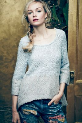Felted Lace Pullover