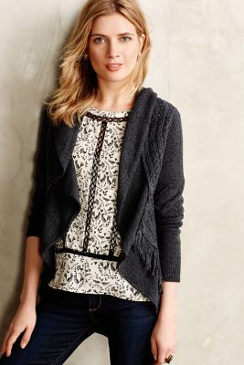 Fringed Circle Cardigan