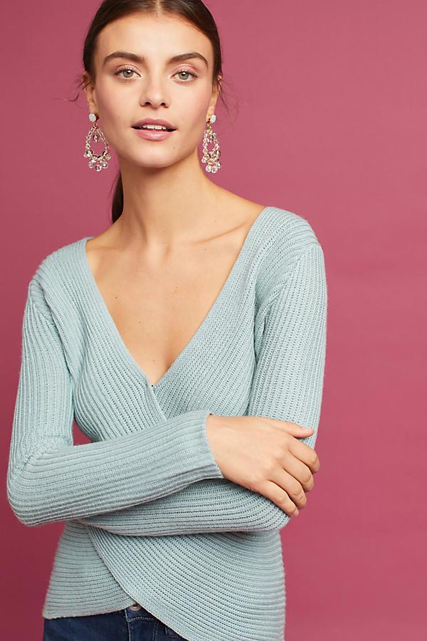 Criss-Cross Ribbed Sweater