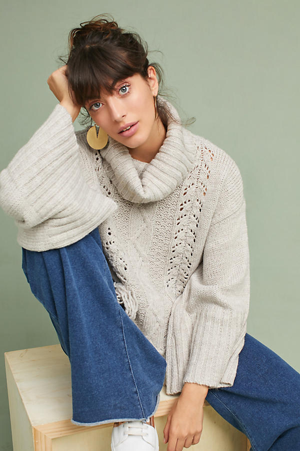 Fringed Cable Sweater