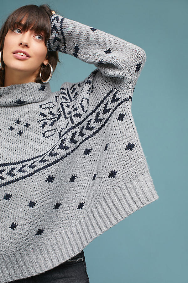 Oversized Jacquard Pullover
