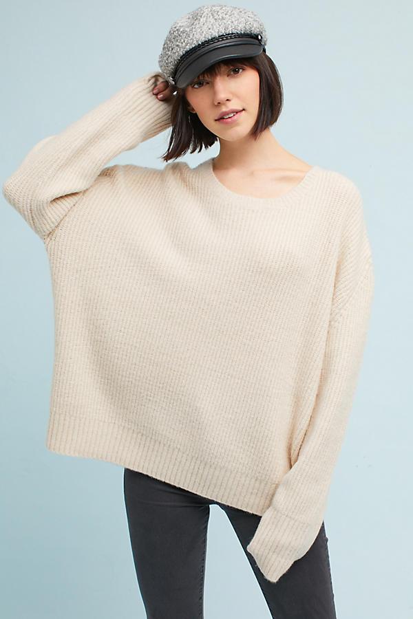 Oversized Scoop Neck Pullover