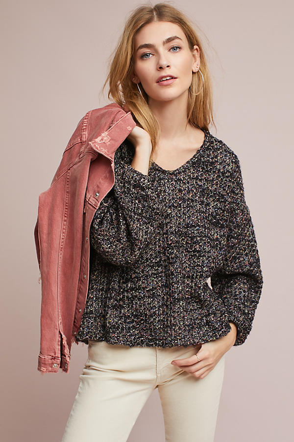 Stitched Boat Neck Pullover
