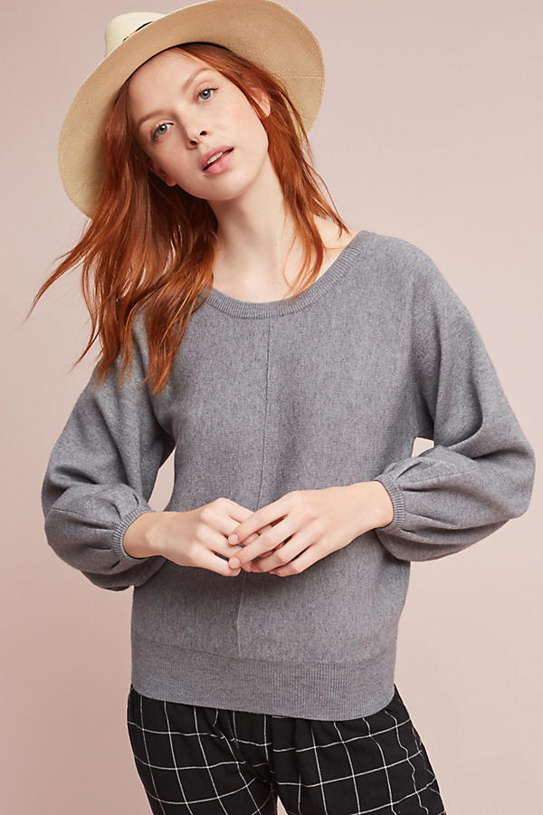 Balloon-Sleeved Pullover
