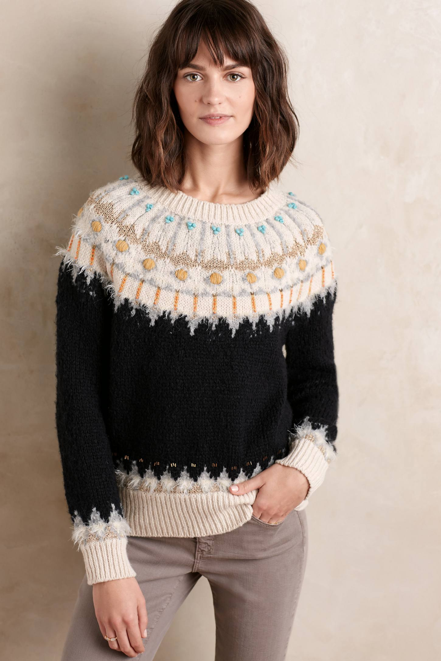 Beaded Fairisle Pullover