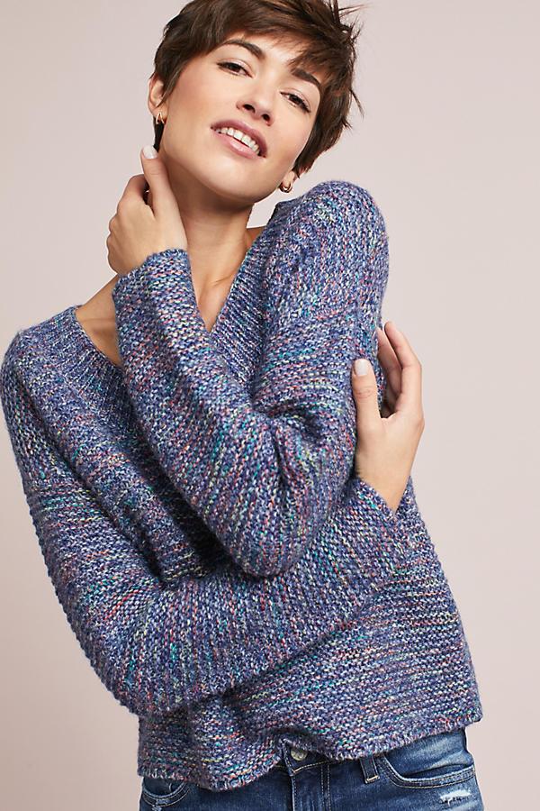 Marled Scoop Neck Pullover