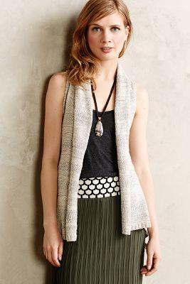 Twist-Back Sweater Vest