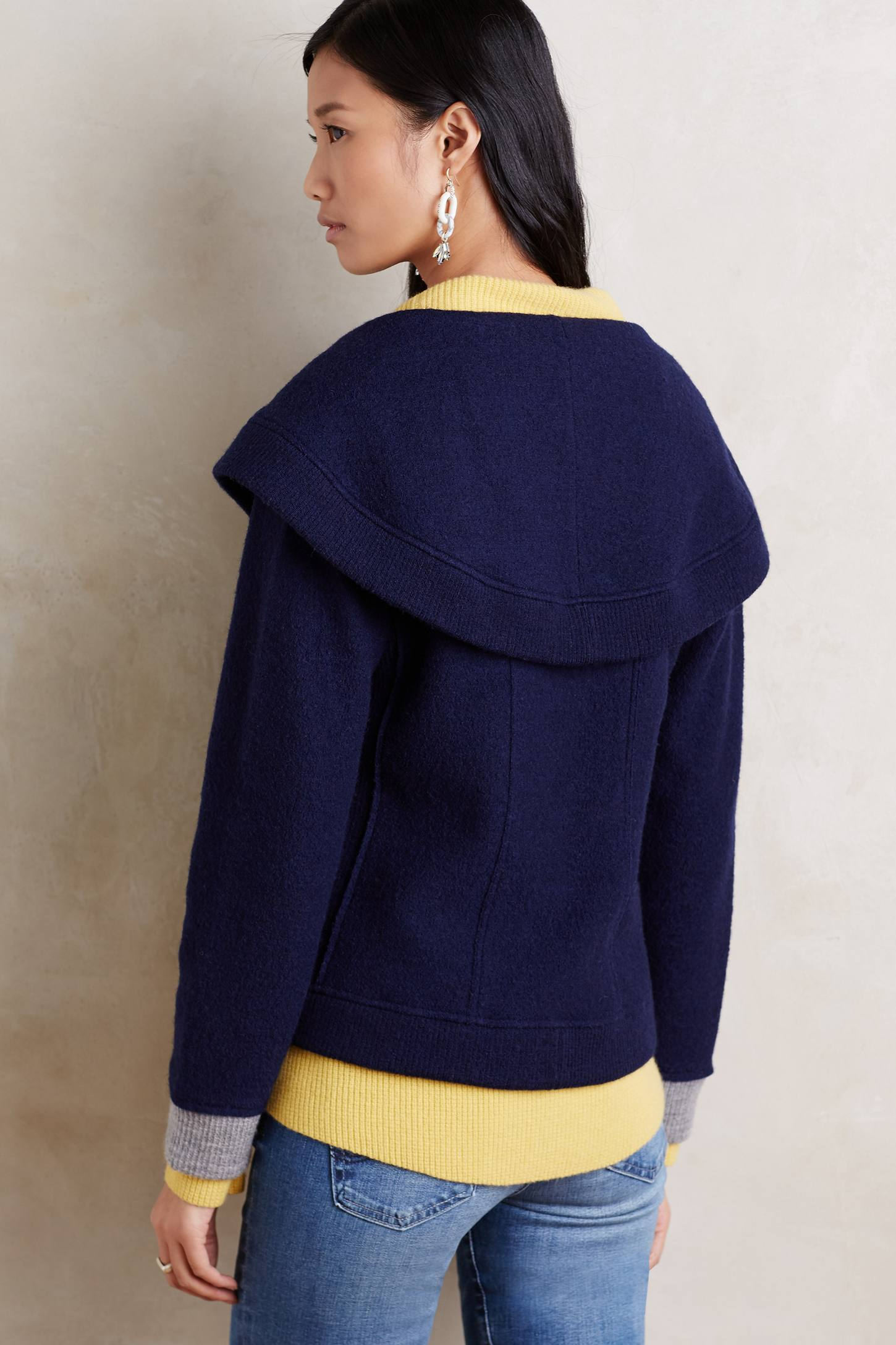Shawled Boiled Wool Jacket