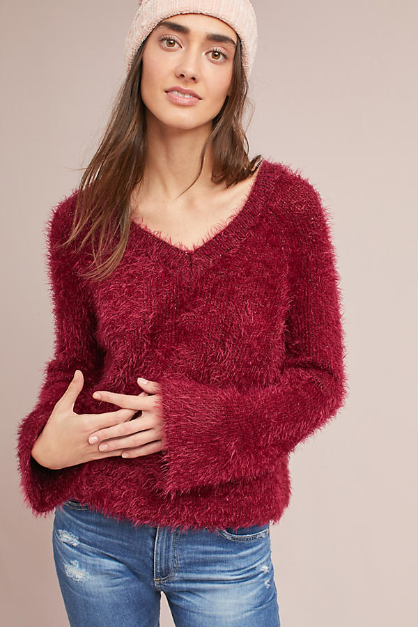 Belled V-Neck Pullover