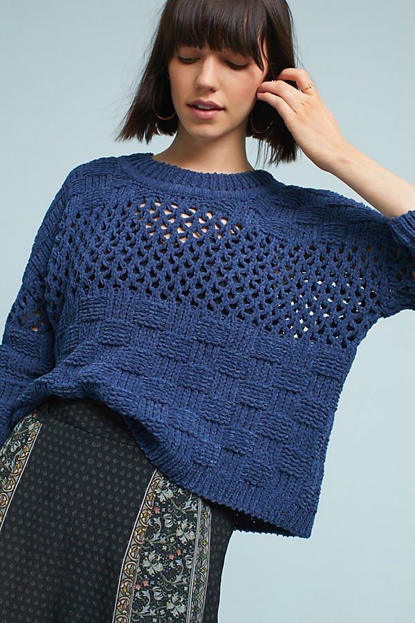 Chenille Stitched Pullover