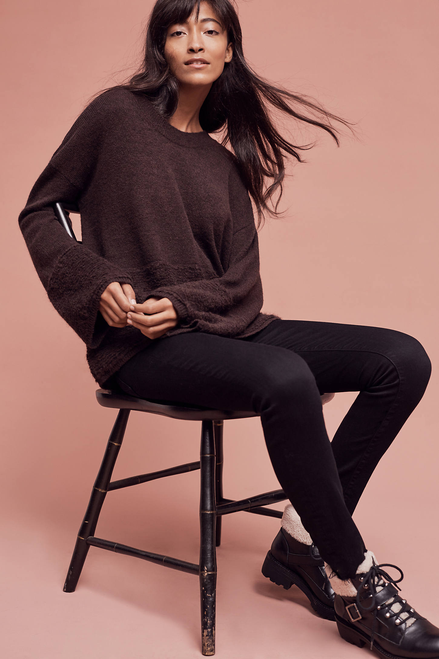 Caster Bell-Sleeve Pullover