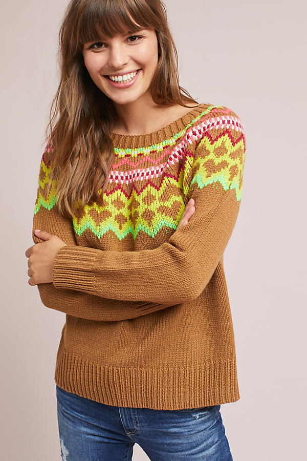 Bright Fair Isle Pullover