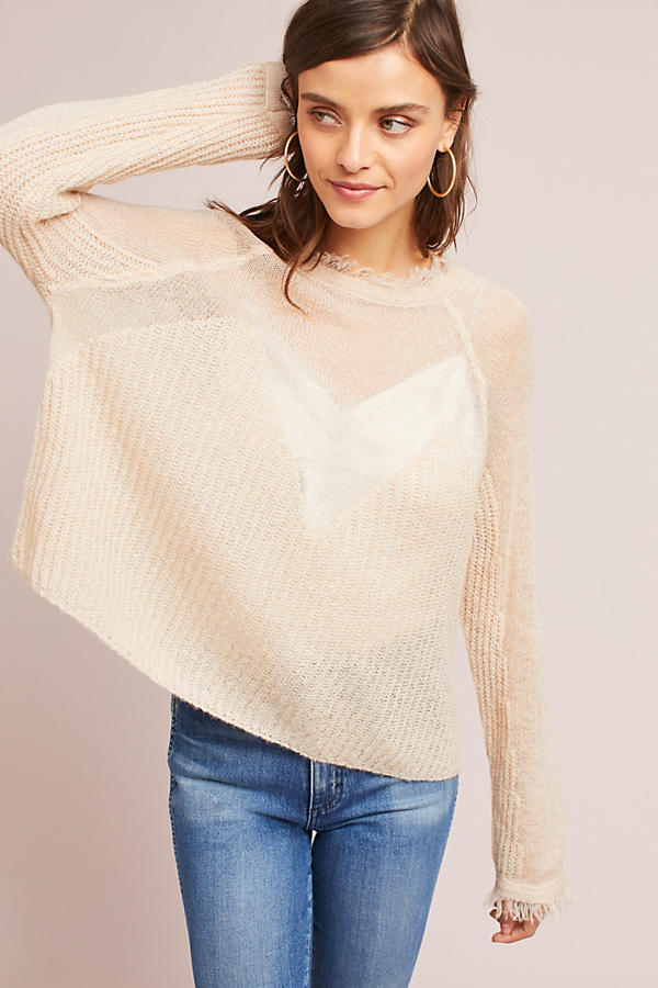 Sheer Raglan Sweater