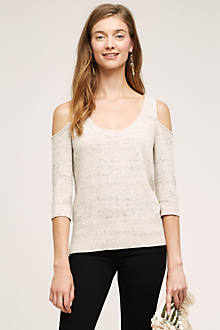 Spacedye Open-Shoulder Pullover