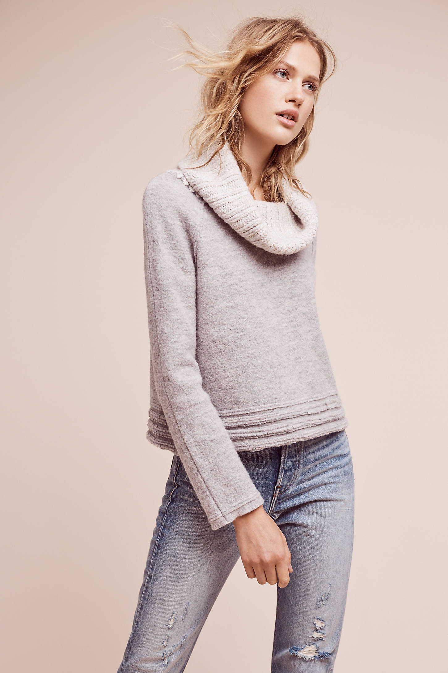 Meribel Cowl Jumper, Grey