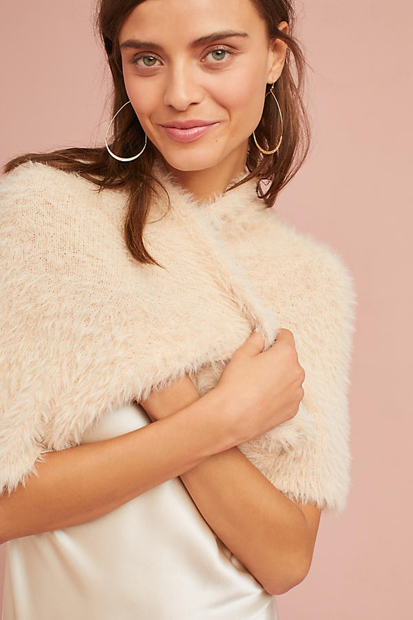 Bekuh Eyelash Shrug Sweater