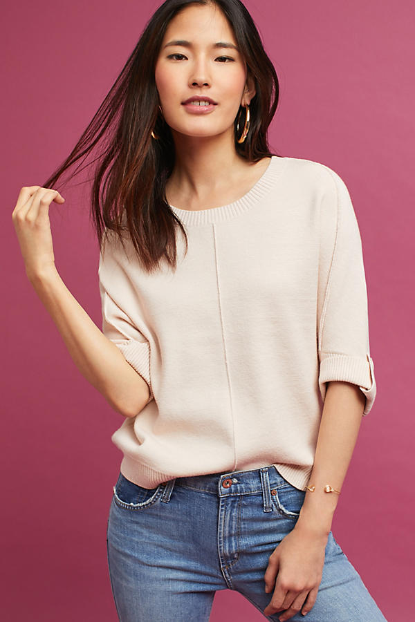 Cropped Cocoon Pullover