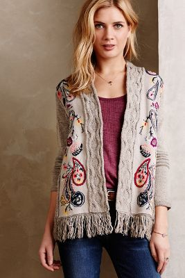 Folklore Embroidered Cardigan