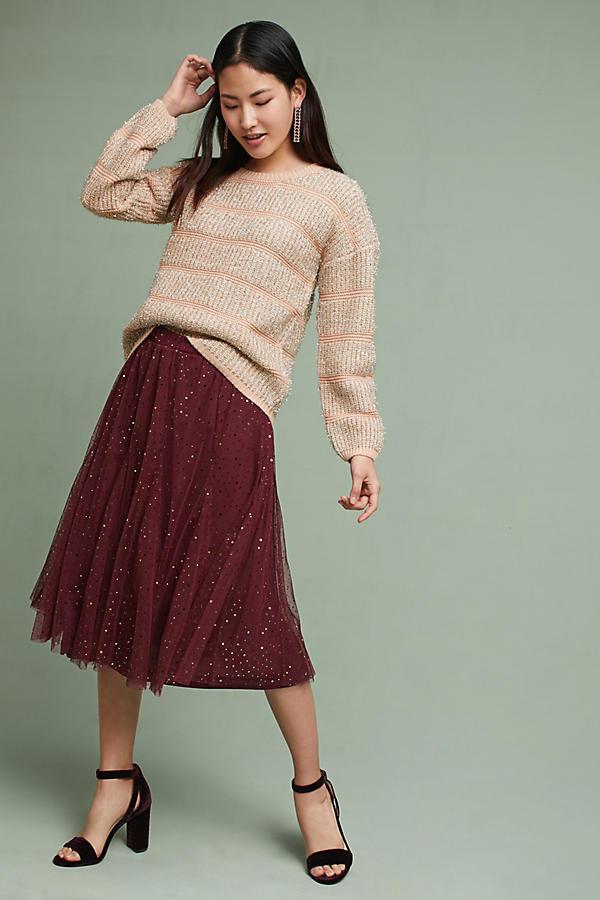 Shimmer Stripe Pullover
