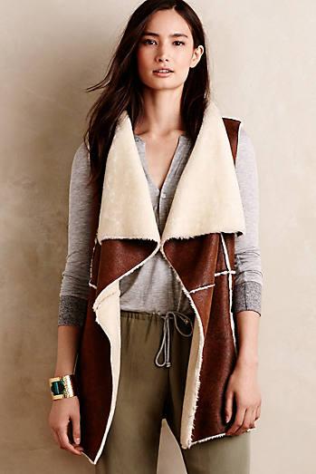 Draped Sherpa Vest