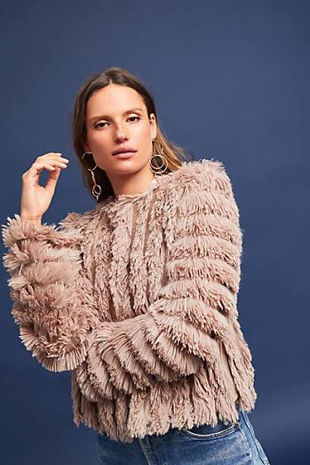 Cordella Faux Fur Cardigan