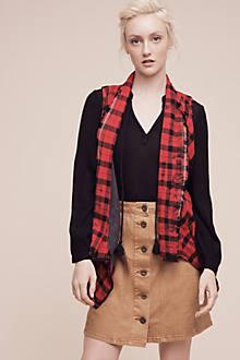 Roxanne Checked Vest