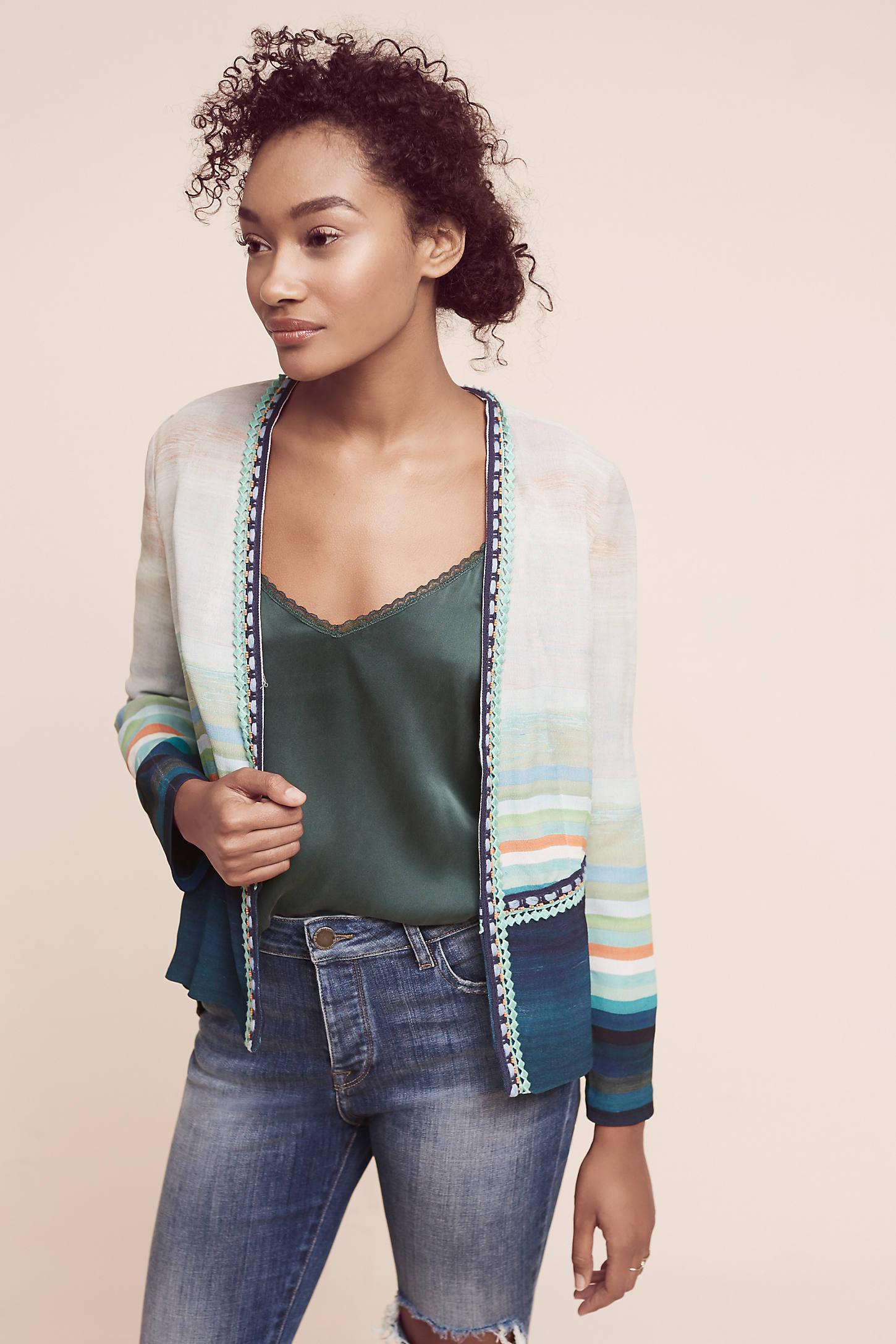 Yasmin Striped Jacket, Blue
