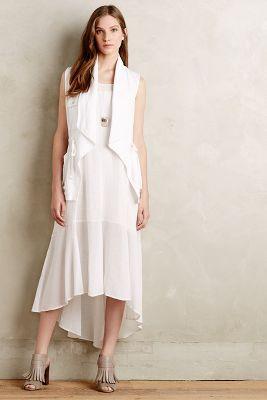 Drawstring Linen Vest