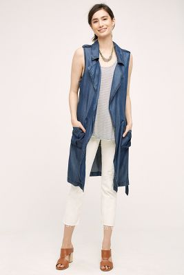 Chambray Duster Vest