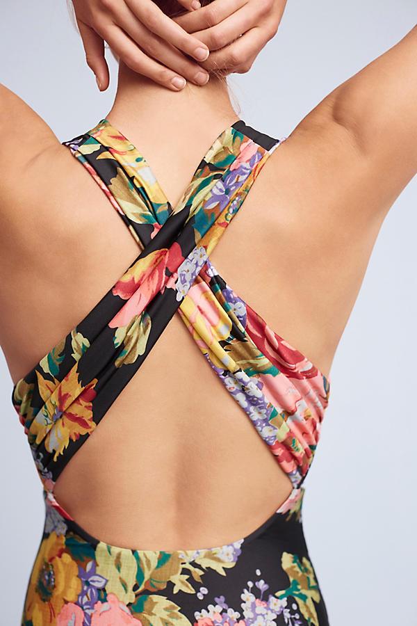 Zinnia Plunge One-Piece Swimsuit