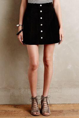 Alexa Chung for AG Suede Mini Skirt Black 25 Skirts