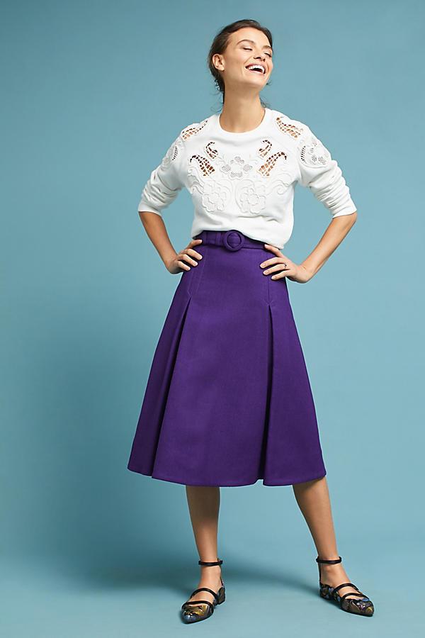 Cara Pleated Skirt