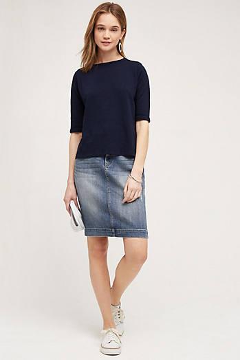 Level 99 Distressed Denim Skirt