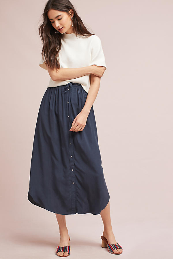 Toledo Button-Front Skirt