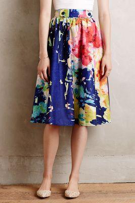 Fauvism Midi Skirt