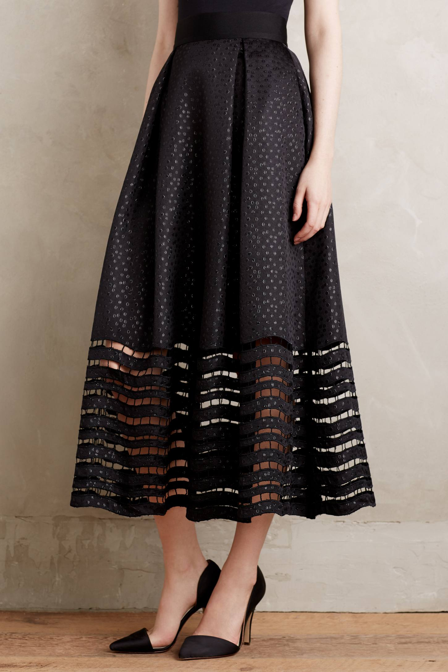 Lace-Hem Ball Skirt