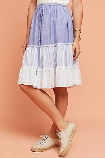 Rails Tiered Patchwork Skirt