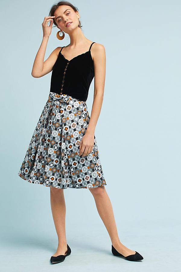 Geo Jacquard Skirt