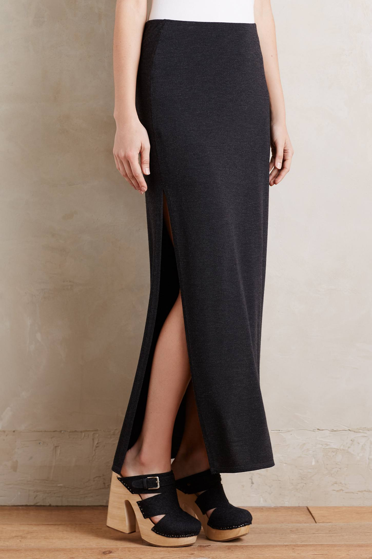Side-Split Maxi Skirt