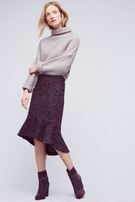 Audrey Tweed Trumpet Skirt