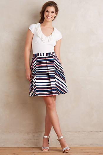 Stripe Flats Skirt