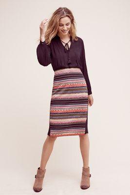Serafina Striped Sweater Skirt