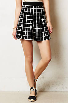 Grid Skater Skirt
