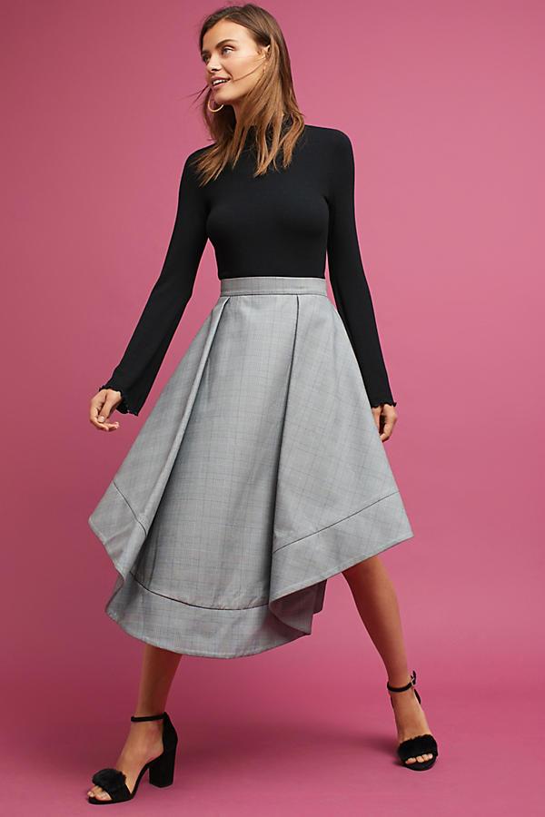 Logan Plaid Midi Skirt