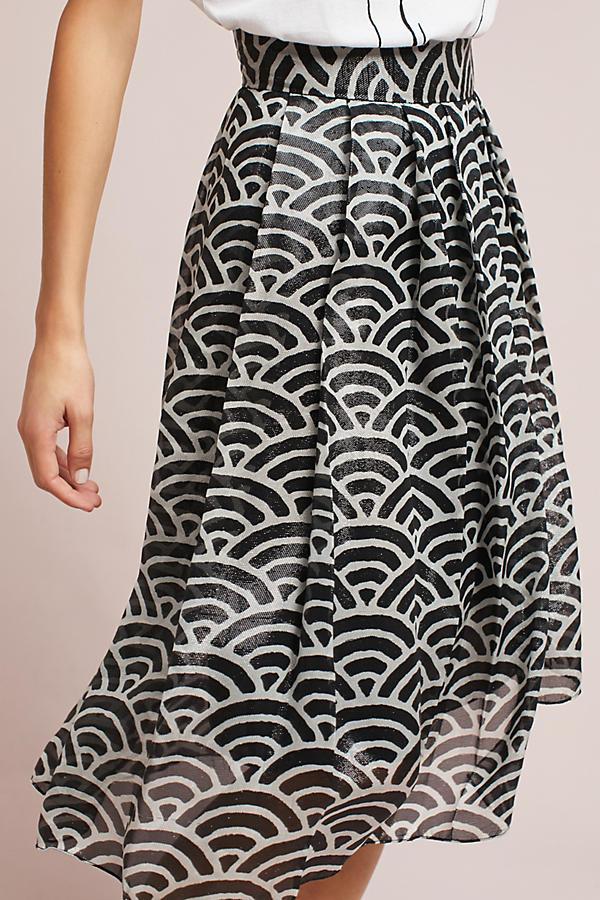 WHIT Silk Fan Skirt