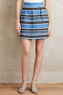 Double Stripe Jacquard Skirt