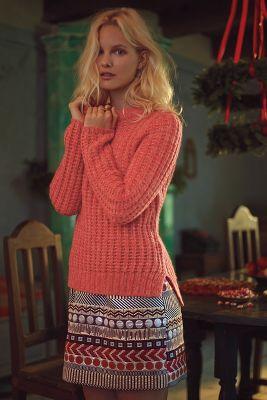 Glistened Geo Mini Skirt