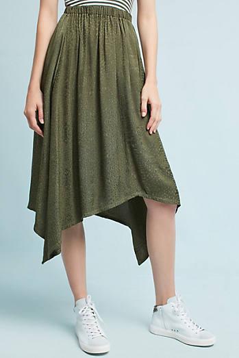 Jacquard Asymmetrical Skirt